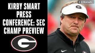 Georgia Bulldogs Kirby Smart Press Conference: SEC Championship Game Preview | CBS Sports HQ