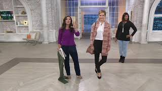 Denim & Co. Comfy Knit Pull-On Ankle Jeggings on QVC