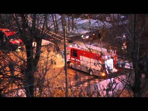 Пожар Б. Марфинская улица 17.11.15 Слаженная работа пожарных.