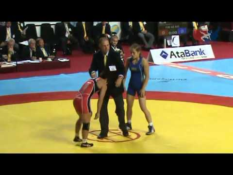 2011 Worlds Womens Freestyle 48kg Quarters - World Champ Mariya Stadnyk (AZE) vs. 2X Olympian &amp;World Champ Clarissa Chun (USA)