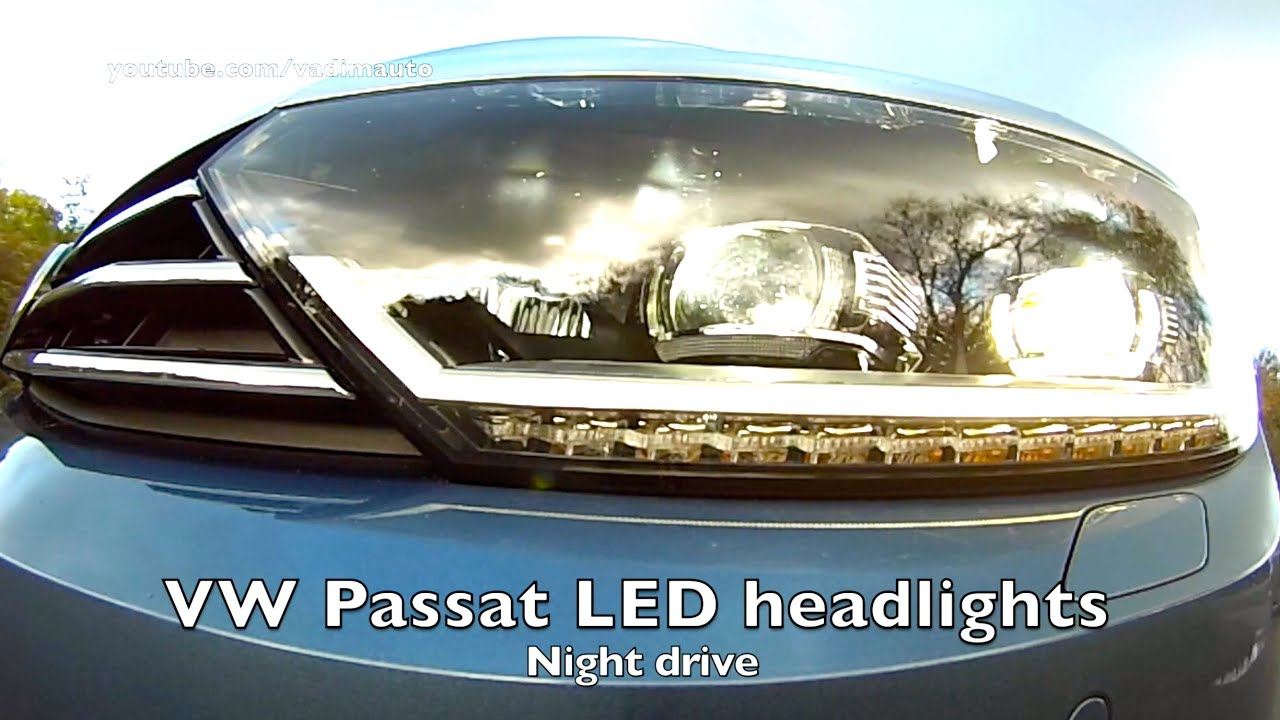2015 Vw Passat Led Test Youtube