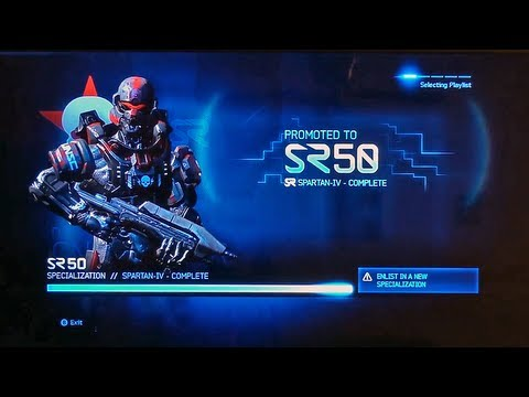 Halo 4 Rank SR50 Unlocks and Specializations