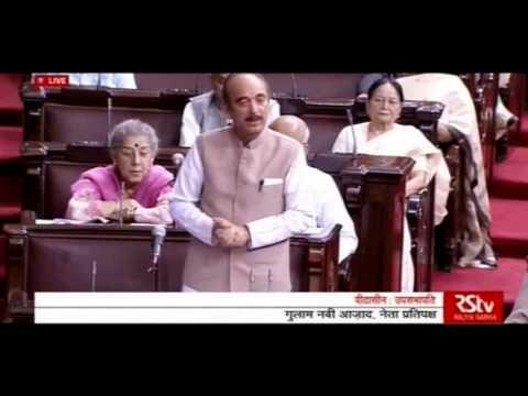 Ghulam Nabi Azad Speech in Rajya Sabha, 25 April 2016
