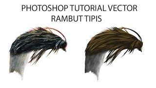 Photoshop Tutorial - Vector X Vexel Rambut Tipis