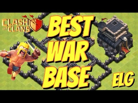 Clash of Clans Town Hall Level 9 - Best War/Trophy Base - Best Defensive Base - Custom Build!
