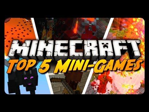 TOP 5 | MINECRAFT SERVER MINI-GAMES! | By AntVenom!