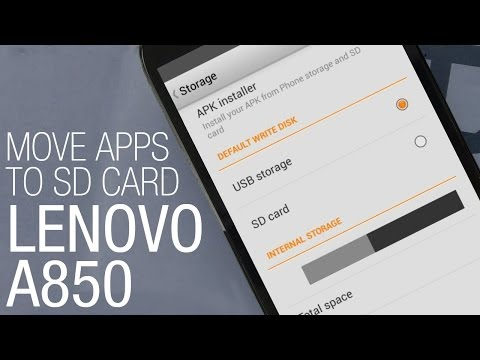 Lenovo A850 - how to move apps to SD card and free space