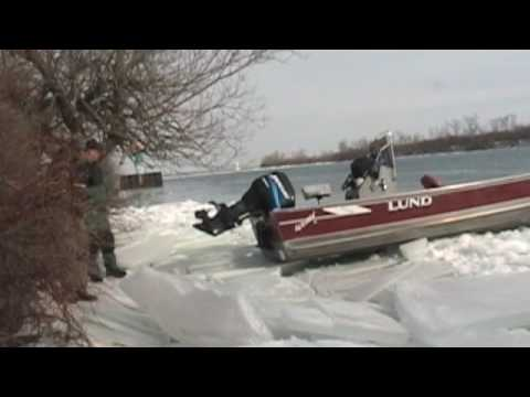 Boat Problems when Ice Fishing the Detroit River
