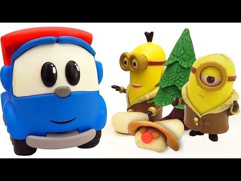 Грузовичок Лева - Машинка и снеговик - Видео с игрушками