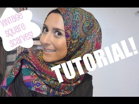 TUTORIAL TIME! VINTAGE SQUARE SCARF! - YouTube