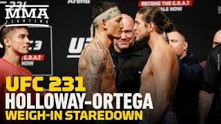 UFC 231: Max Holloway vs. Brian Ortega Weigh-In Staredown - MMA Fighting
