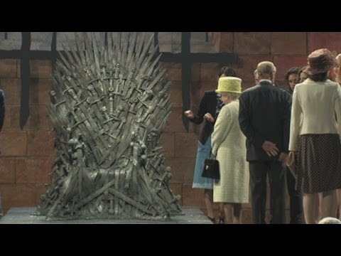 Queen visits set of Game of Thrones in Belfast