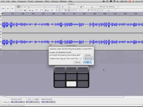 Making an mp3 file with Audacity