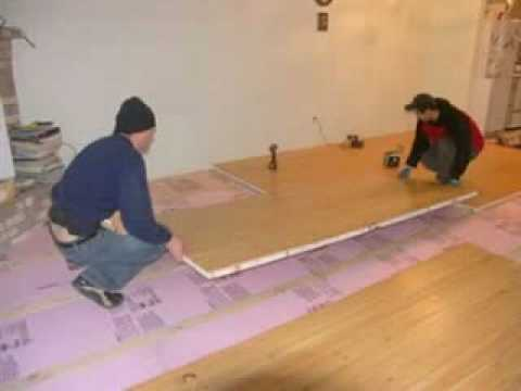 easy way to insulate your concrete floor sing honeycomb panels youtube. Black Bedroom Furniture Sets. Home Design Ideas