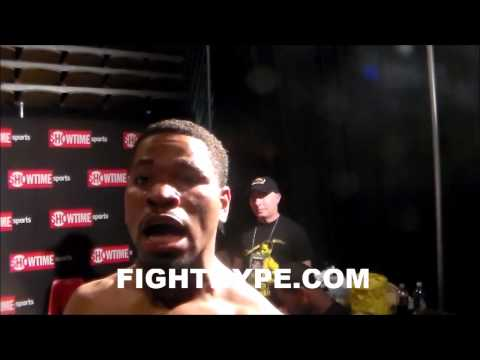 SHAWN PORTER ON MALIGNAGGI KO IT WAS A GREAT PERFORMANCEI DID WHAT I HAD TO DO