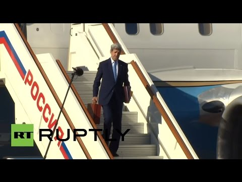 Russia: Kerry lands in Moscow ahead of talks with Putin