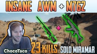 INSANE AWM + M762 | Chocotaco 23 kills solo FPP MIRAMAR | PUBG HIGHIGHTS TOP 1 #154