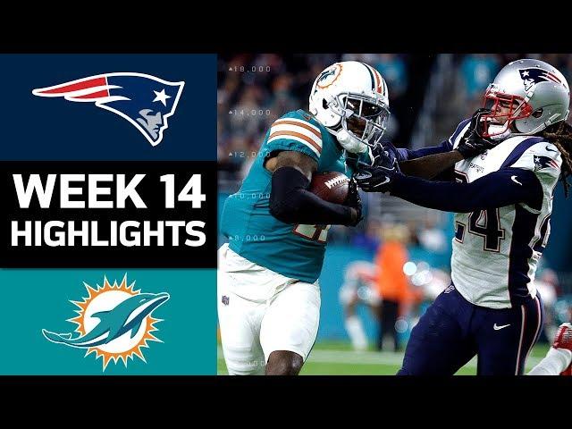 Patriots vs. Dolphins  NFL Week 14 Game Highlights