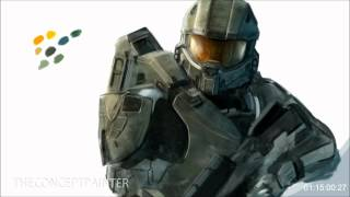 HALO 4 - Master Chief - Speed Paint in Photoshop [HD] - TheConceptPainter