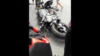 """Tin nhanh 24/7 - Biker Miền Tây """"RỚT NÀI"""" trên chiếc xe Yamaha R6 sau khi trở về từ lễ hội moto."""