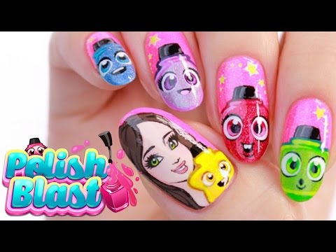 Polish Blast Game Nail Art Tutorial