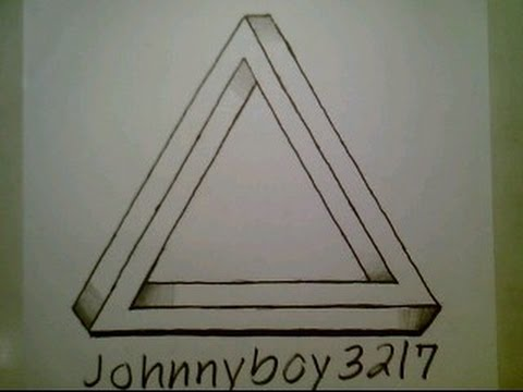 How To Draw The Impossible Triangle Easy 3D Optical Illusion Stept By Step
