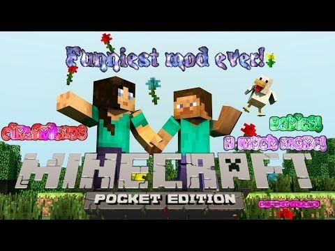 Girlfriends. babies and much more Minecraft PE funniest mod ever!