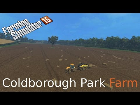 Farming Simulator 15 on Coldborough baling straw and Grain carting