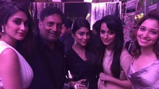 Actresses dance and enjoy in party