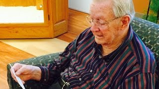 WWII Vet tears up reading long-lost love letter