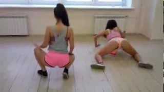White girls booty dance Striptis europe best video