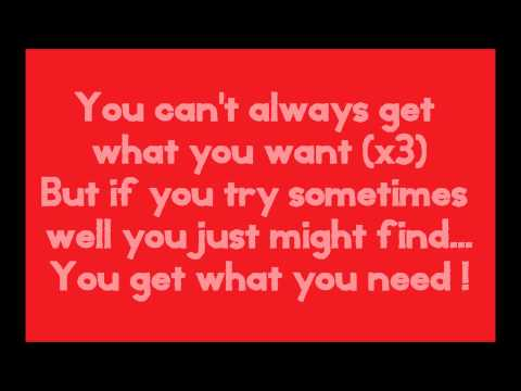 The Rolling Stones - You Can't Always Get What You Want (lyrics)