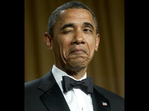 Obama The Comedian:  Mocks Wife Michelle's Hair & Obama's Birth Place & Bush Library