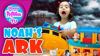 Noah's Ark Gift Set by Little People from Bible Story Toys Unboxing Funny Review   HappyMilaTV #310