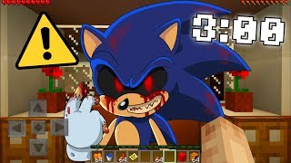 DO NOT FIND SONIC.EXE IN MINECRAFT POCKET EDTION AT 3AM! (SECRET RECORDING)