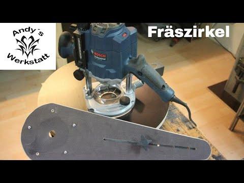 Fräszirkel für Oberfräse Bosch GOF 1250 CE – Router circle jig diy