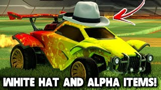 MY ROCKET LEAGUE DREAM CAR! | White Hat, Goldstone Wheels, Alpha Boost! | Rocket League Mods/Glitch