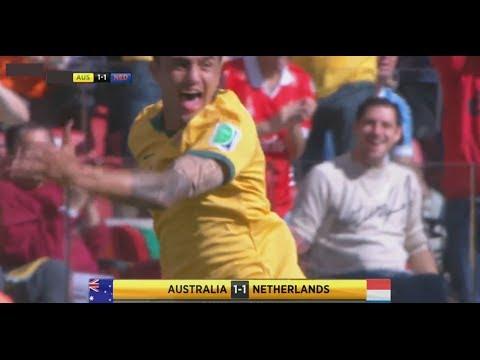 Australia vs Netherlands 2-3  All Goals Highlights ~Fifa World Cup 2014 (English)