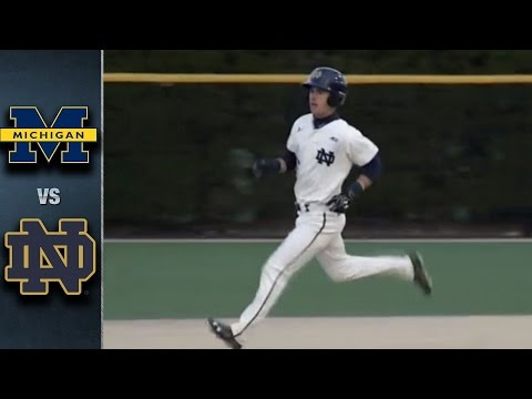 Notre Dame vs. Michigan Baseball Highlights (April 5, 2016)