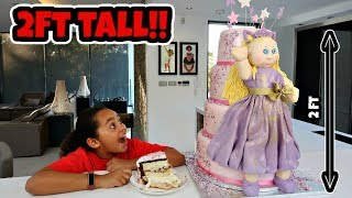 TIANA'S GIANT DOLL CAKE SURPRISE!!