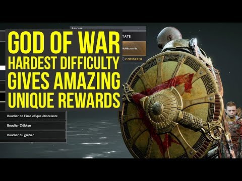 God of War Secrets - Hardest Difficulty Gives AMAZING UNIQUE REWARDS (God of War 4 Best Gear) thumbnail