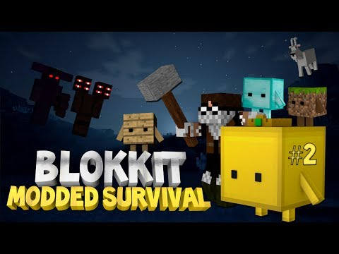 Minecraft: Blokkit Modded Survival Ep. 2 - HANK THE SNAKE JR!