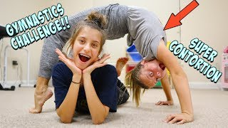 I DID THE FAMILY GYMNASTICS CHALLENGE WITH MY SISTER!