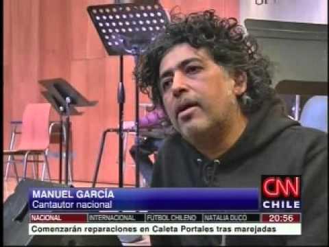 Entrevista grabada a Manuel García, cantautor nacional Canal CNN Chile Noticias Express 22082015
