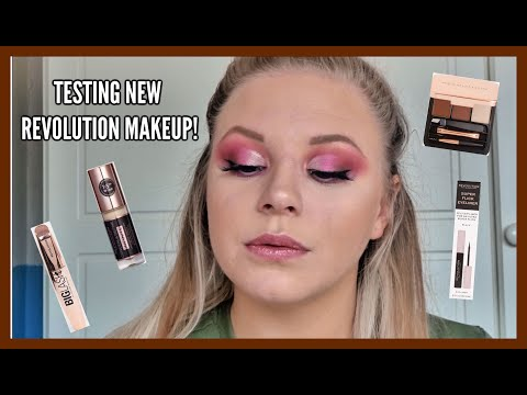 TESTING NEW REVOLUTION MAKEUP!