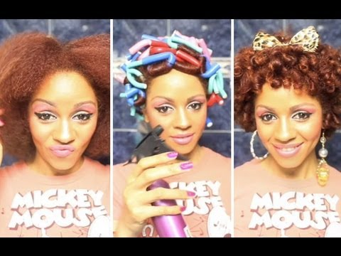 Curling Natural Hair With Flexi Rods Flexi Rod Curls Tutorial