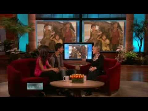 Dev Patel and Freida Pinto on Ellen DeGeneres 01 14 09 5 of 5