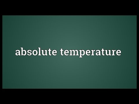 Header of absolute temperature