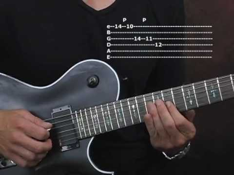 0 Guitar lesson string skipping major triads Paul Gilbert style electric shred rock with tabs