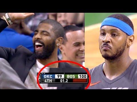 Carmelo Missed BOTH Game Winning Free Throws | Celtics Beat OKC Thunder | Crazy Ending